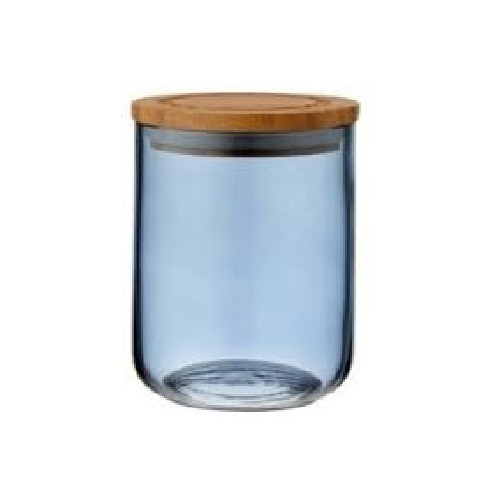 Ladelle Stak Glass Storage Collection - Canister - Dusky Blue -13cm (LD 61351)