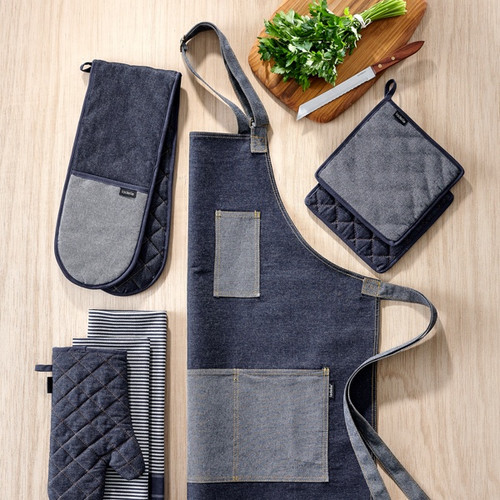 Ladelle Denim Series Oven Mitt - Denim - Set of 2 (LD 46150)