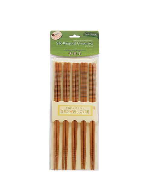 Helen's Asian Kitchen Silk Wrapped Bamboo Chopsticks (HIC 97026)