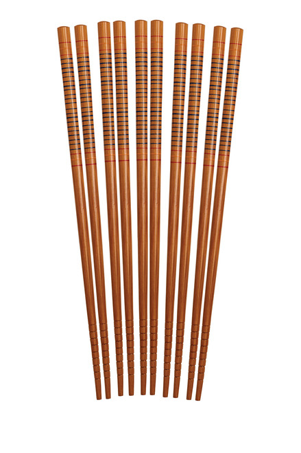 Helen's Asian Kitchen Silk Wrapped Bamboo Chopsticks (HIC 97026)