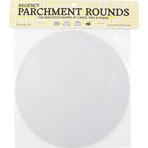 Regency Round Parchment - 8in - Set of 24 (HIC RW1108)