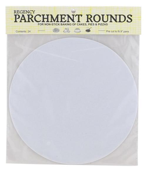 Regency Round Parchment - 9 in. - Set of 24 (HIC RW1109)