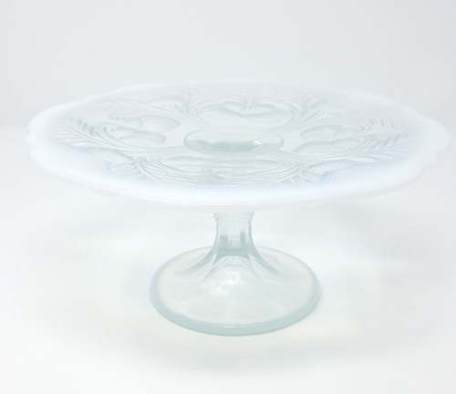"Mosser Glass Inverted Thistle Collection Cake Stand - 8.5"" - Milk (MG 179CPCO)"