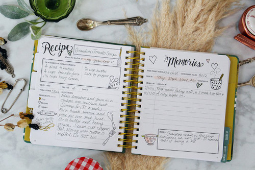Lily & Val The Keepsake Kitchen Diary - Whimsical Lemons (LV KKD2)