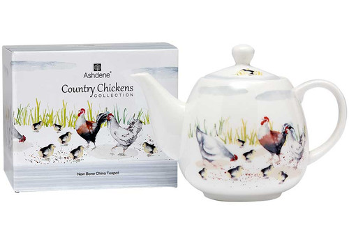 Ashdene Country Chickens Collection - Small Teapot with Metal Infuser - Family (AD 517280)