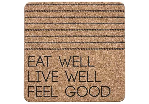 Ladelle Eat Well Collection - Cork Trivet -Black (LD 80093)