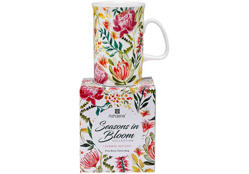 Ashdene Seasons in Bloom Collection - Fine Bone China Mug - Summer Natives (AD 517255 - SN)
