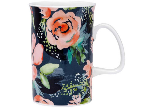 Ashdene Seasons in Bloom Collection - Fine Bone China Mug - Moody Magnolia (AD 517255 - MM)