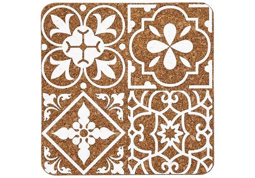 Ladelle Tapas Collection - Cork Trivet - Morocco Tile Print (LD 80066)