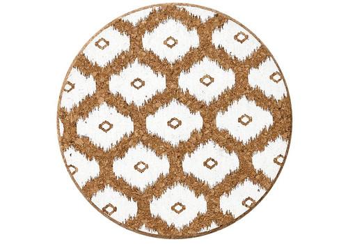 Ladelle Mila Collection - Round Cork Trivet - White (LD 80074)