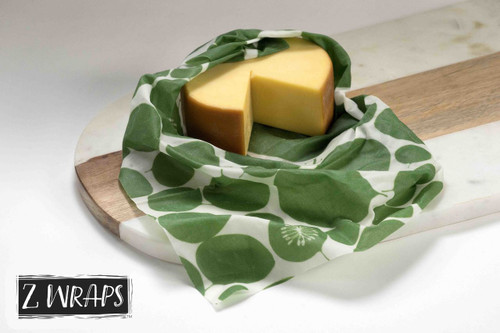 ZWraps Reusable Beeswax Food Wrap - Multi-Pack: Small, Medium, Large - Leafy Green (ZW MP LG)