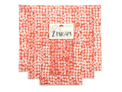 ZWraps Reusable Beeswax Food Wrap - Multi-Pack: Small, Medium, Large - Connect the Dots (ZW MULTIDOT)