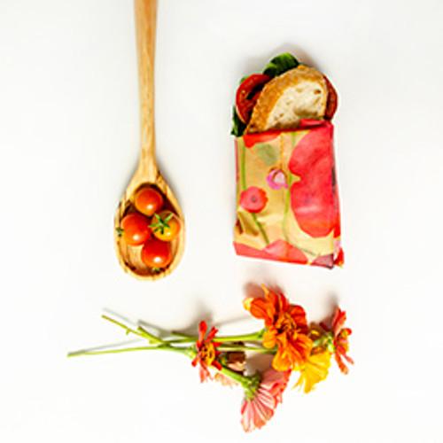 ZWraps Reusable Beeswax Food Wrap - Medium - Painted Poppy (ZW MPOP)