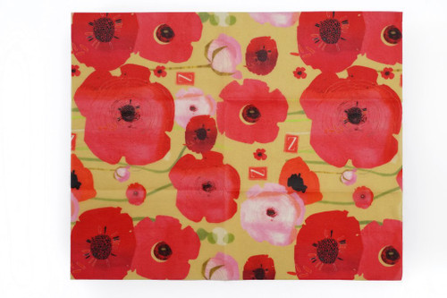 ZWraps Reusable Beeswax Food Wrap - Large - Painted Poppy (ZW LPOP)