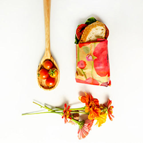 ZWraps Reusable Beeswax Food Wrap -Painted Poppy