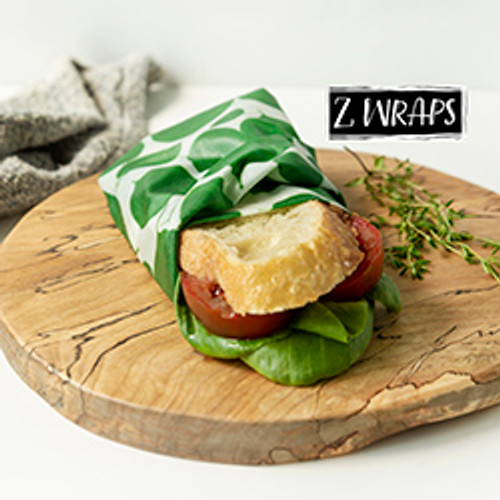 ZWraps Reusable Beeswax Food Wrap - Medium - Leafy Green (ZW MLG)