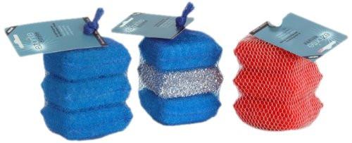 Ezbrite -Mini Scrubber Set - Blue - Set of 3 (EZ EB3MS-BBB)