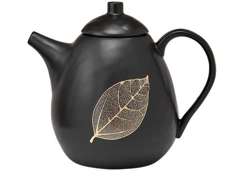 Ashdene Lantana Collection - Tea Pot - Black and Gold (AD 517201)