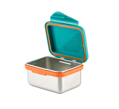 Kid Basix - Safe Snacker™ Stainless Steel Food Container with Attached Lid - 7 oz. - Teal (NW 00273)