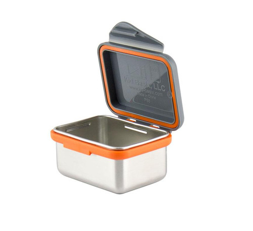 Kid Basix - Safe Snacker™ Stainless Steel Food Container with Attached Lid - 7 oz. - Gray (NW 00274)