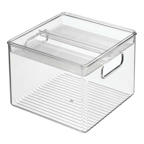 Interdesign Fridge Binz - Kitchen Bin with Removable Divided Tray - Set of 2 - Clear (ID 03113)
