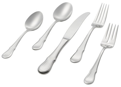 Ginkgo Helmick Stainless Collection - Celine Platinum - 20 Piece Service for 4 (GK 26115-9)