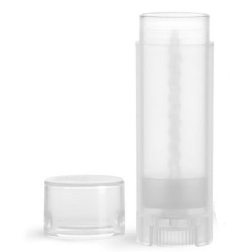 T.M.C. .15 oz Natural Polypropylene Oval Lip Balm Tubes with Caps