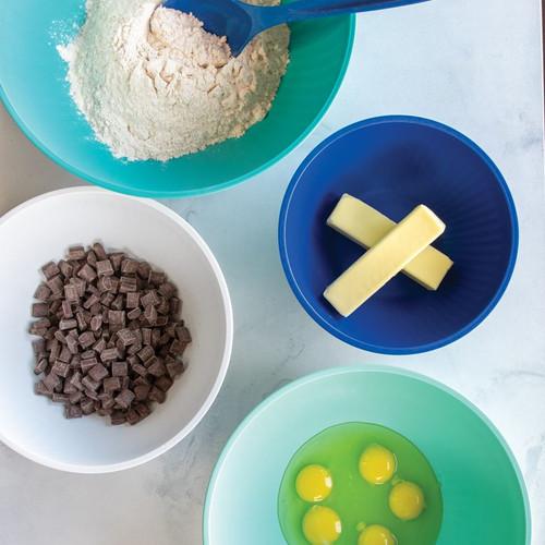 NordicWare Prep & Serve Mixing Bowls - Set of 4 - Coastal Colors (NW 69514)