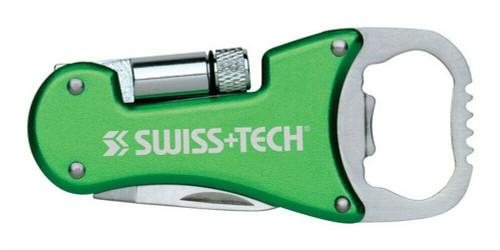 Swiss Tech - Bottle Opener 3-in-1 Multi-Tool - Green (ST 60319)