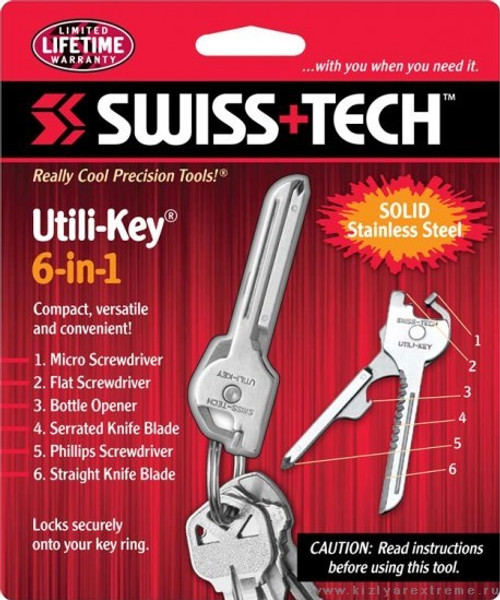 Swiss Tech - Utili-Key 6-in1 (ST 66676)