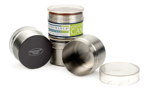 RSVP Endurance Stainless Steel Collection - Magnetic Clear-Top Can - 4 oz. (RSVP KLAR-M2)
