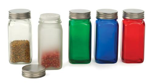 RSVP Endurance Square Glass Spice Bottle Collection