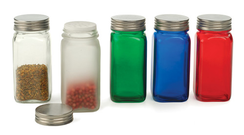 RSVP Endurance Square Glass Spice Bottle Collection