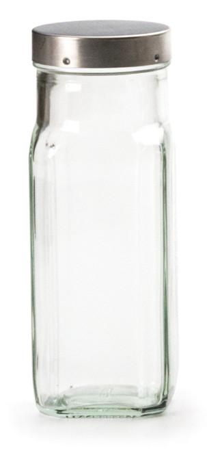 RSVP Endurance Square Glass Spice Bottle- Clear - 8 oz.(large) (RSVP LSQ-C)
