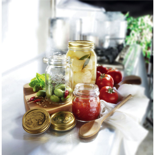 """Quattro Stagioni Replacement Lids - #70 (2.75"""") allow you to reuse your canning jars."""