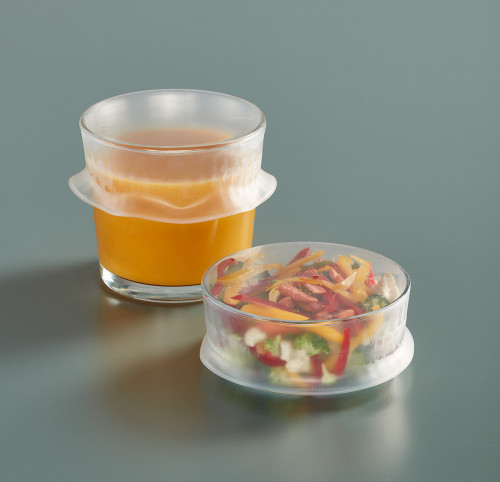 Reusable Flexible Lid can fit on different shape and sizes.