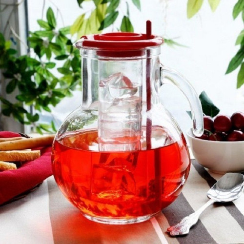 Bormioli Rocco Kufra Jug - 2L ( 67.7 oz) - Red (BR 135729MR9321990)