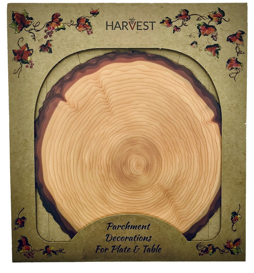 Sisson Parchment Harvest Leaves - Log Slice - Pack of 20 (SD 1112)