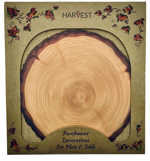 Sisson Parchment Harvest Leaves - Log Slice - Pack of 20 (SD 1112)