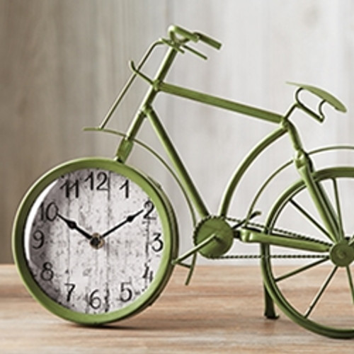 tag Retro Bicycle Table Clock - Bright Green (TAG 206260)