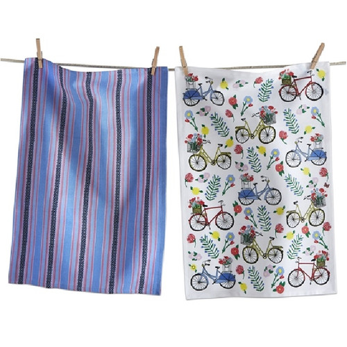 tag Bike Collection - Dish Towel Set - Flower Bike (TAG 209196)