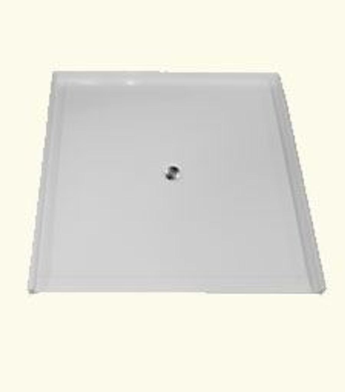 60 X 60 Shower Base | Fiberglass & Barrier Free | US Made