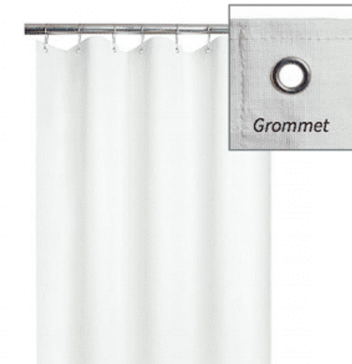 Gentil ADA Weighted Shower Curtain | For Barrier Free Shower | Vinyl