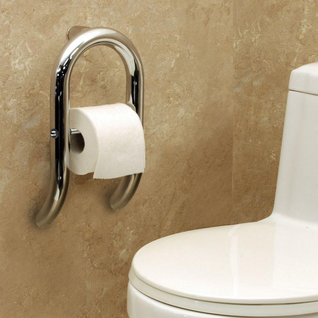 f0a90daf31b Toilet Paper Holder + Integrated Grab Bar