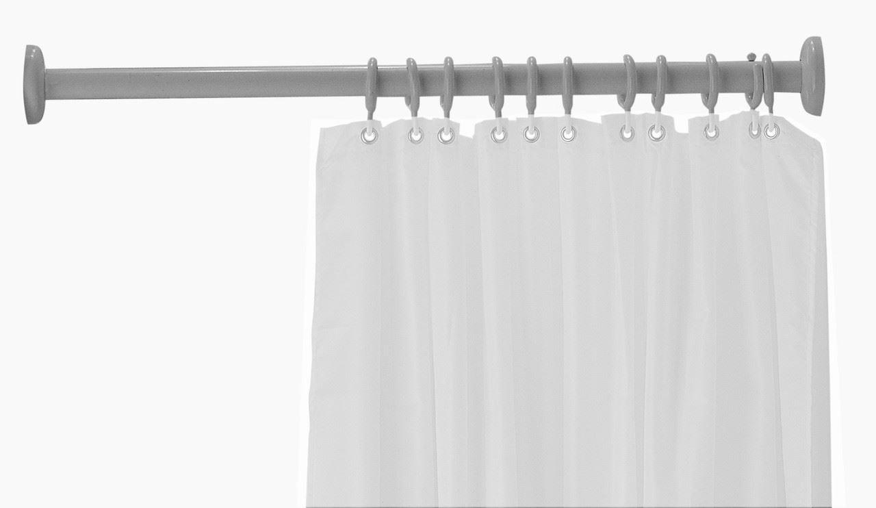 Straight Shower Curtain Rod Nylon Coated Aluminum