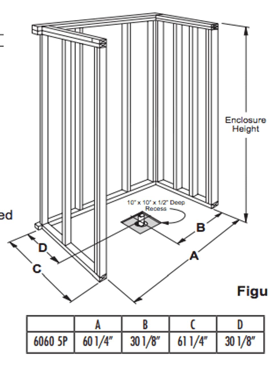 shower stall schematic 60 x 60 shower stall barrier free  60 x 60 shower stall barrier free