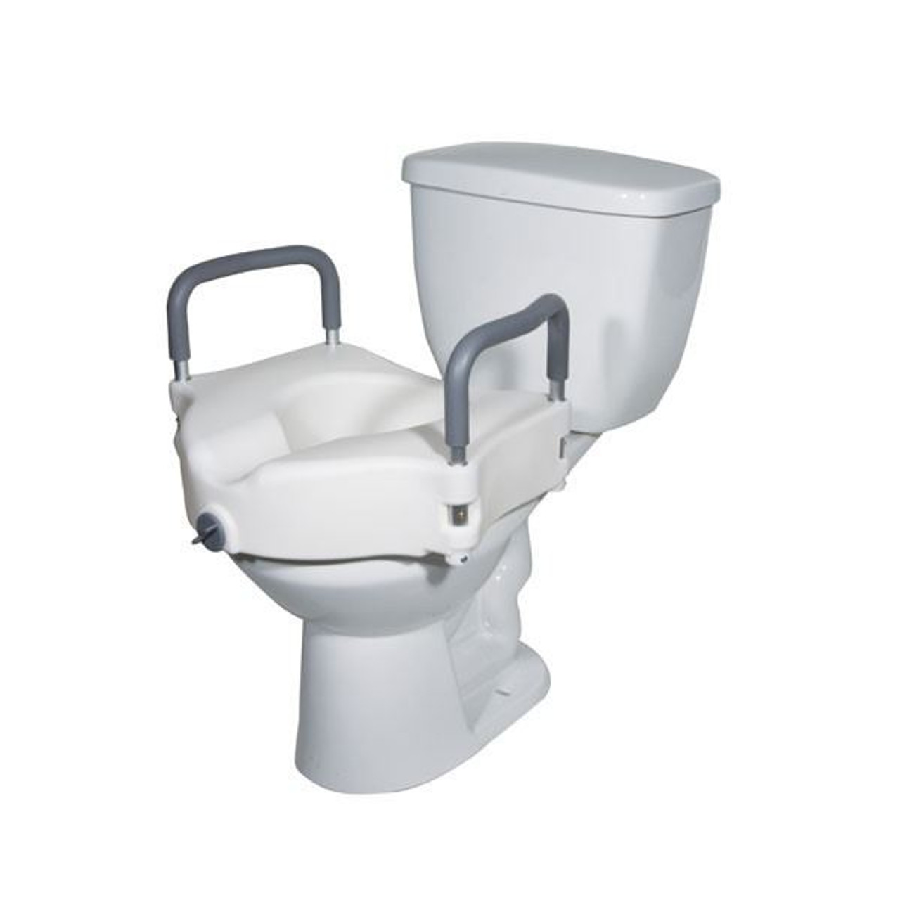 Toilet Seat Riser With Arms.Premium Seat Riser With Removable Arms