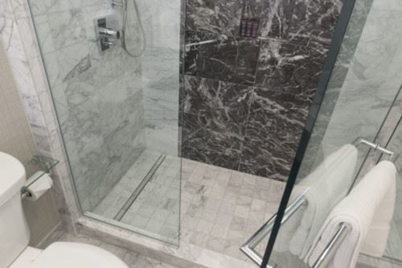Tile Shower Pan Kit.56 Showerline Drain Pan Sloping Kit Curbed Tiled Shower