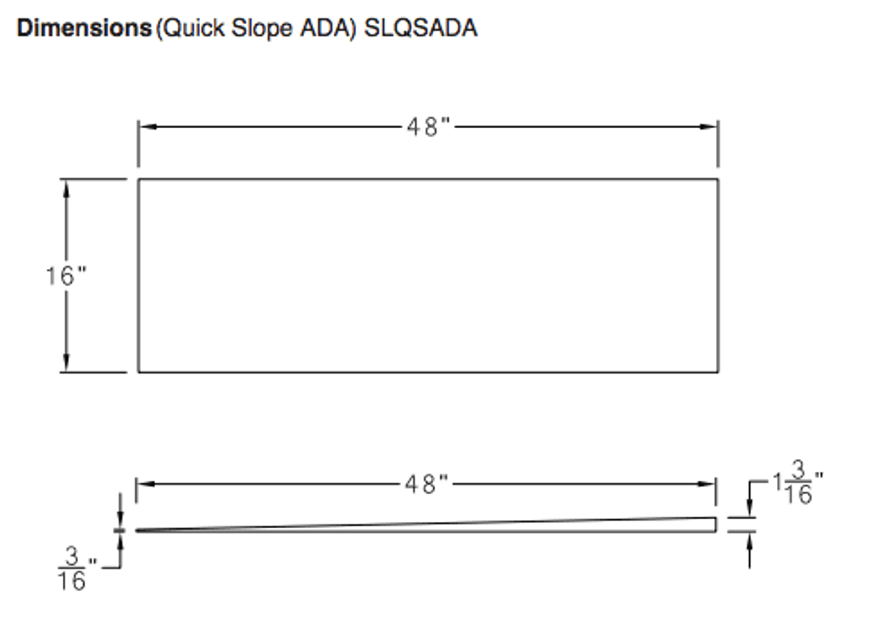 48 X 48 Quickdrain Ada Pan Sloping Kit Curbless Shower