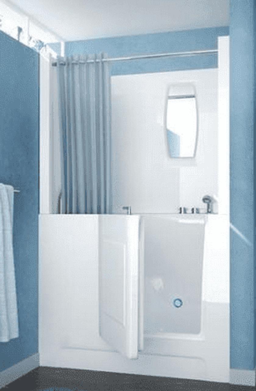 Walk In Bathtub Optional Shower Surround Made In Usa